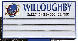 Willoughby Elementary Sign