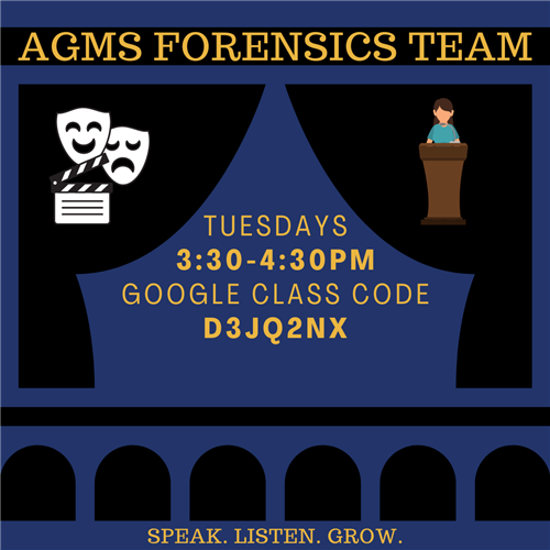 Join the AGMS Forensics Team!