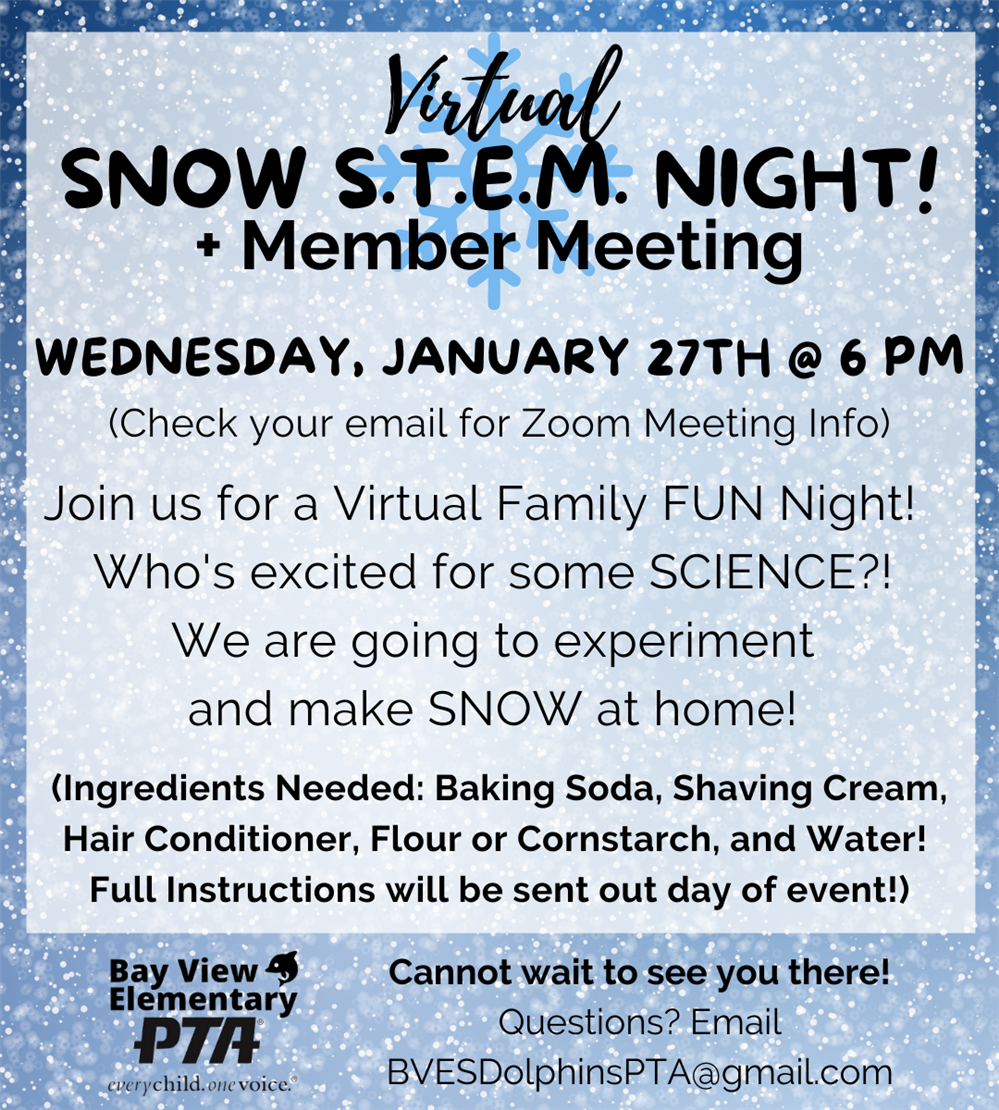 BAY VIEW PTA NEWS January 2021