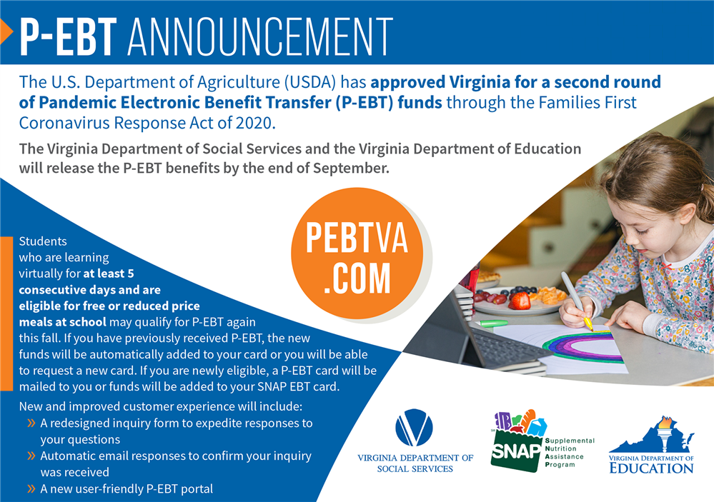 Second round of Pandemic Electronic Benefit Transfer (P-EBT) funds on the way