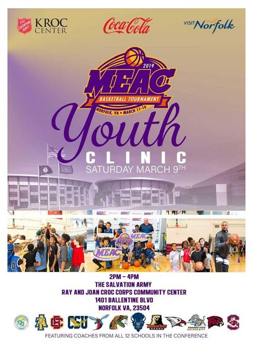 2019 Youth Basketball Clinic with MEAC Conference