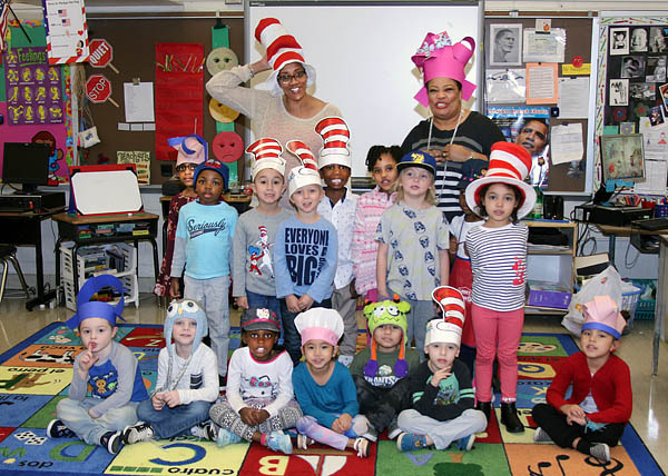"""Cat In The Hat"" Day at Willoughby Early Childhood Center"