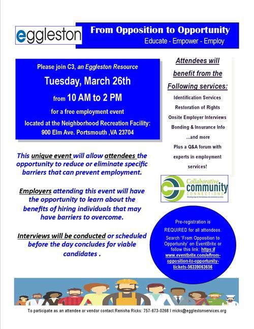 From Opposition to Opportunity Employment Event