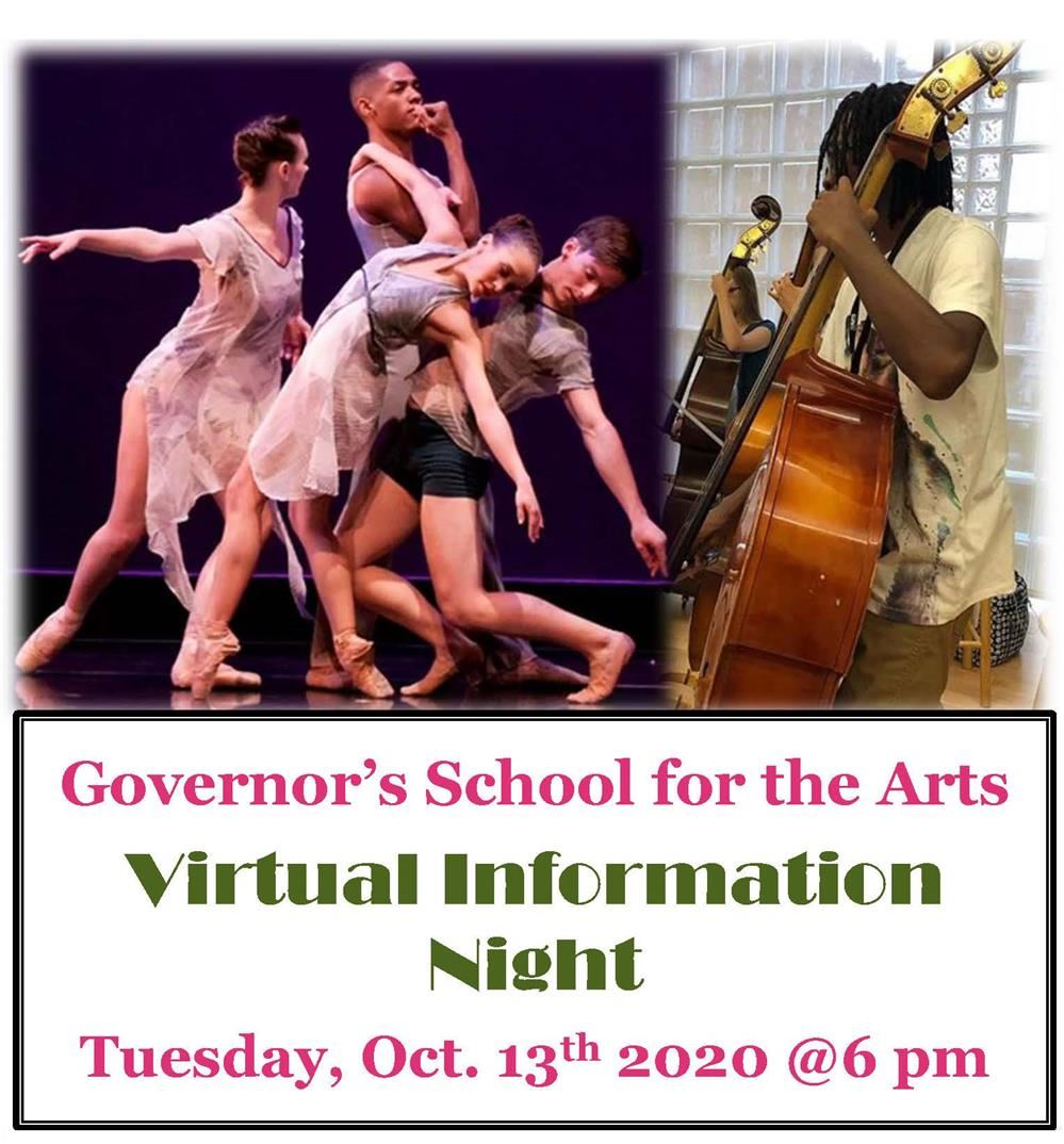 Governor's School for the Arts Virtual Information Night
