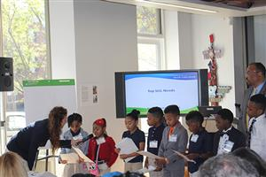 12 Chesterfield Academy students discuss rising sea levels for the Elizabeth River Project