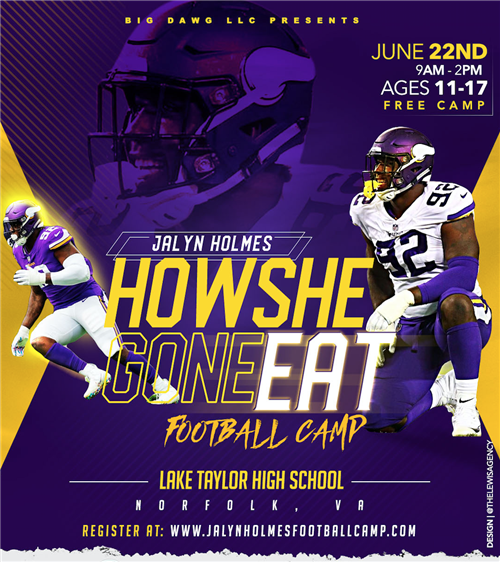 Jalyn Holmes Football Camp