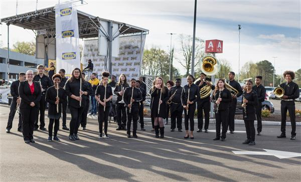 Lake Taylor High School's Symphonic Band Strikes a Chord for IKEA's Grand Opening