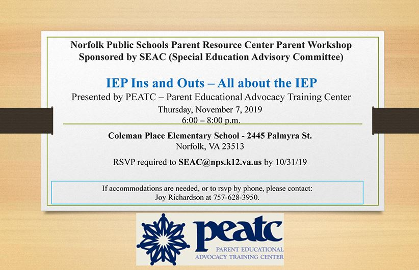 IEP Ins and Outs All about the IEP