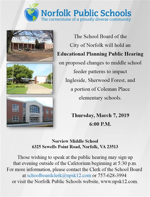 Educational Planning Public Hearing
