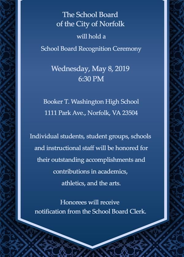 School Board Recognition Ceremony