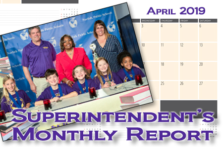 April Superintendent's Monthly Report