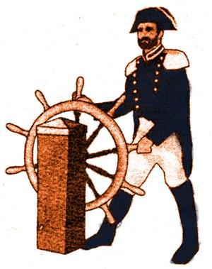 Commodore at the Wheel
