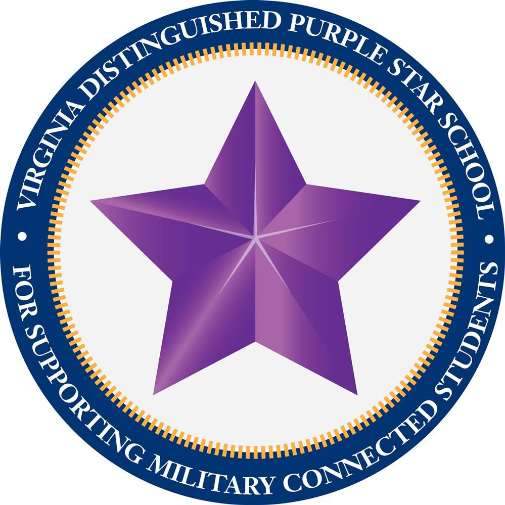 GES is a Purple Heart Recipient for Support of Military Students and Families!