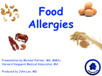 Attention! Parents of Students with Allergies
