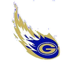 Blue and gold Granby comet
