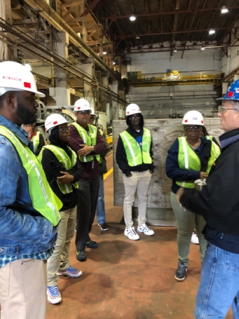 Madison's ISAEP Students Tour the Berkley Shipyard