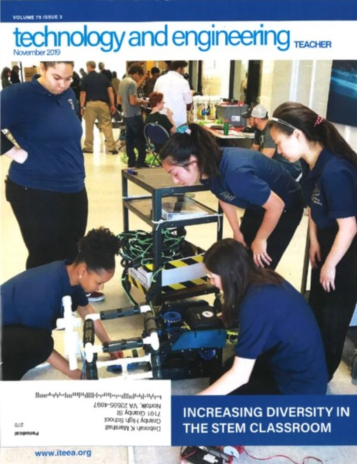 Girls in Engineering on the cover of ITEEA Magazine!