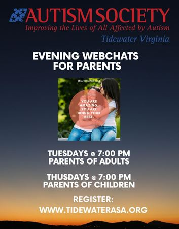 Evening Webchat Autism Society