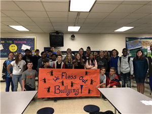 8th Graders Floss Out Bullying