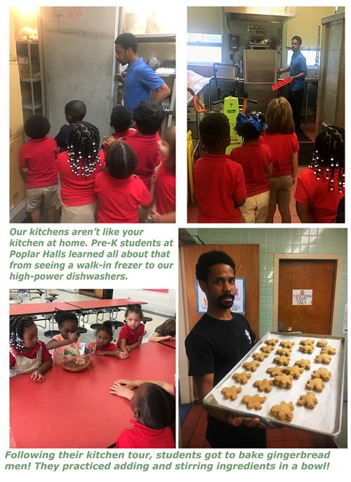 Poplar Halls students went on a kitchen tour and practiced their baking skills!