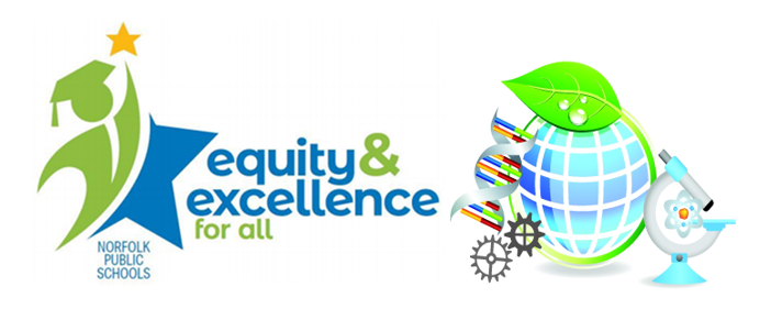 NPS Science Logo - Equity & Excellence - Science World