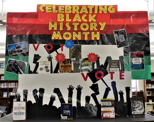 Black History Month Library Display