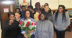 Ms. Johnson with her students