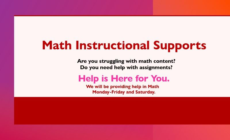Math Instructional Supports