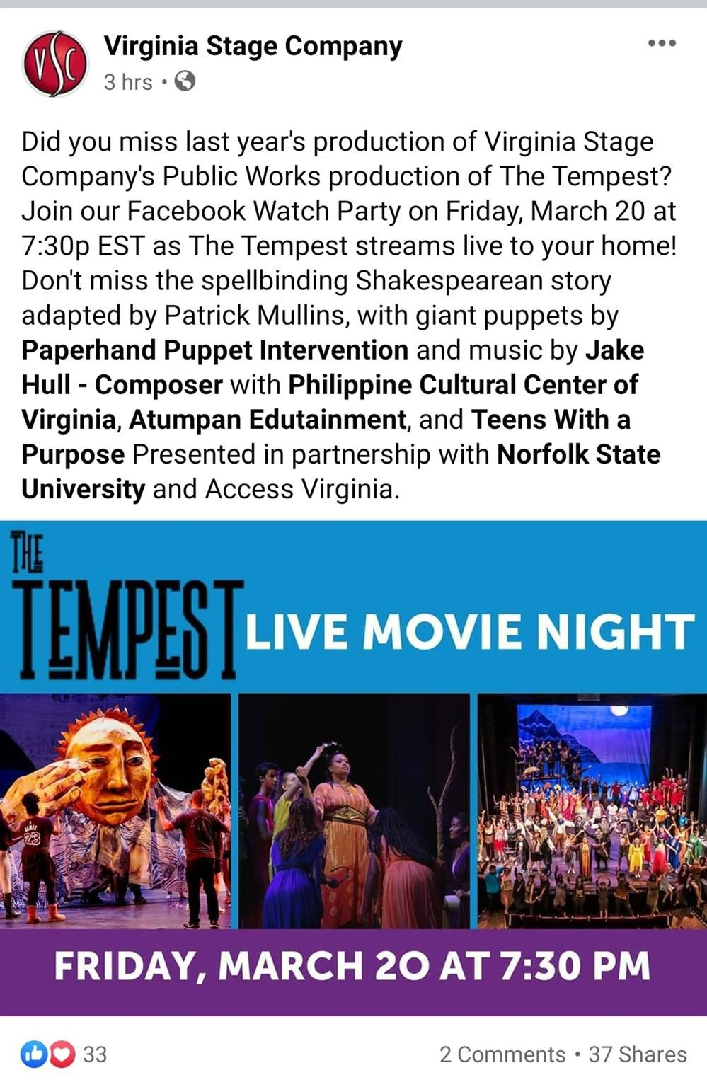 VCU The Tempest Stream Live