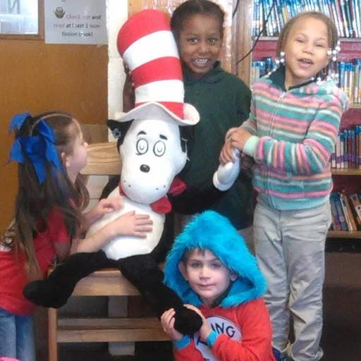 Students with the Cat in the Hat!
