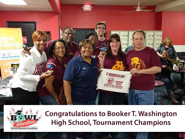 Congratulations to Booker T. Washington High School, Tournament Champions of the First Annual Bowl