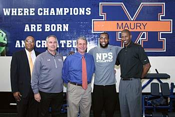 Kam Chancellor cuts ribbon on new weight room at Maury High School