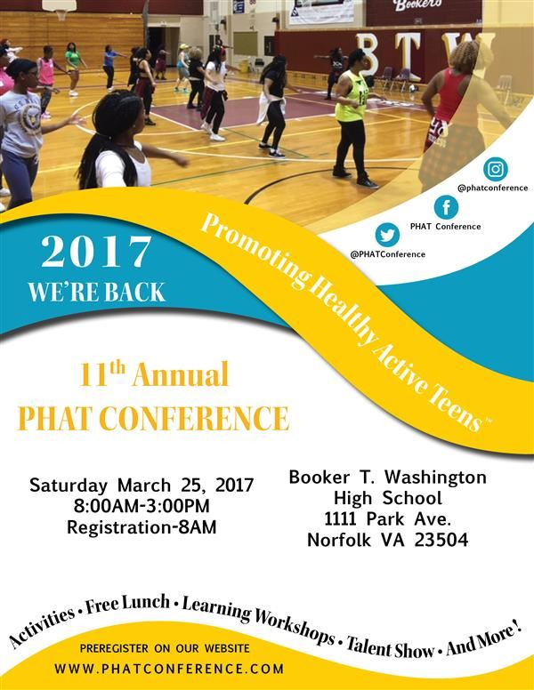 Please Join Us for the 11th Annual PHAT Conference: Promoting Healthy Active Teens!