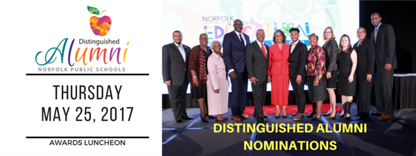 Call for Nominations - 2017 Norfolk Public Schools Distinguished Alumni Awards