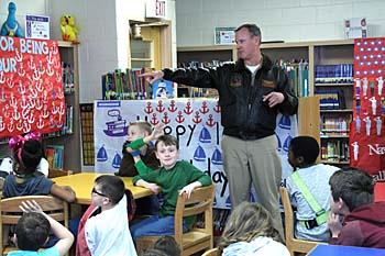 Tarrallton Elementary School celebrated the 100th Day of School with representatives from Naval Station Norfolk