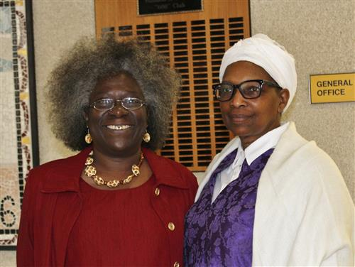 Shirley Chisholm (portrayed by Mrs. Martins) & Sojuorner Truth (Portrayed by Rev. Joyce Nyhaug